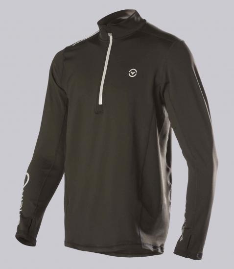 SiO4男子咖啡紗長袖半拉鍊功能性保暖衣