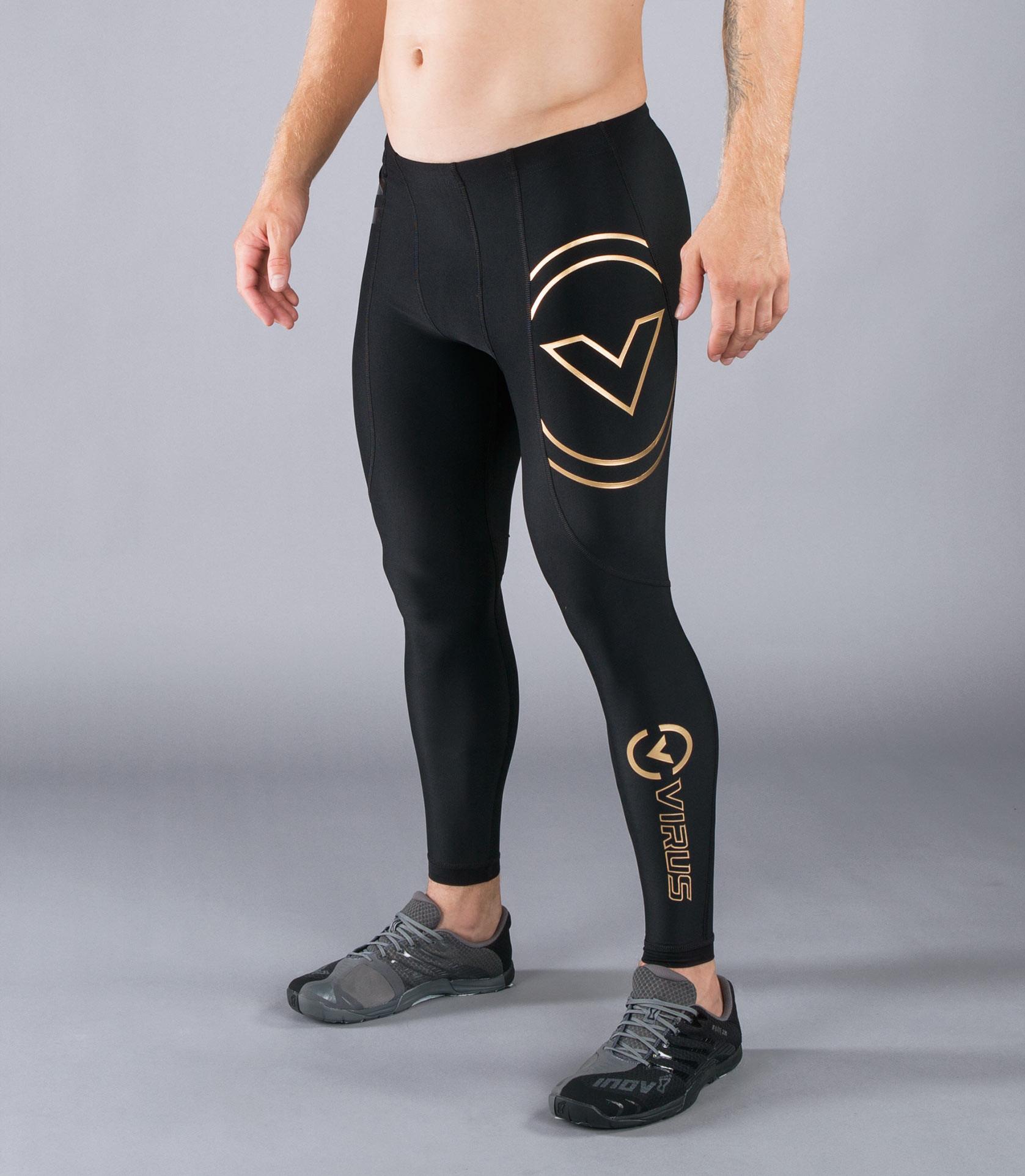 Au9男子生物能緊身V2機能長褲