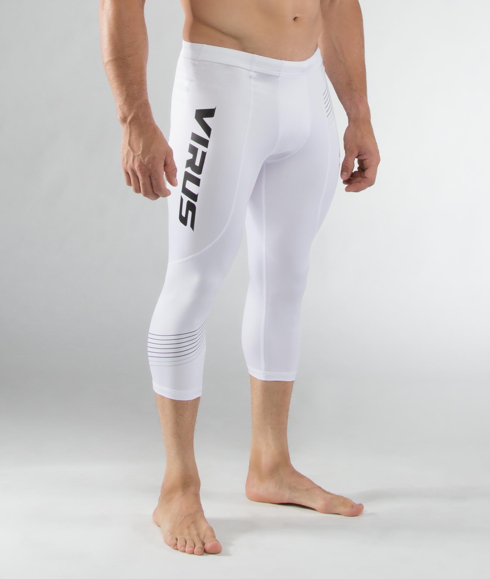 Au18男子生物能緊身七分褲